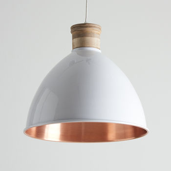 White And Copper Pendant Lights