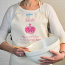Personalised 'Queen/King of Kitchen' Apron