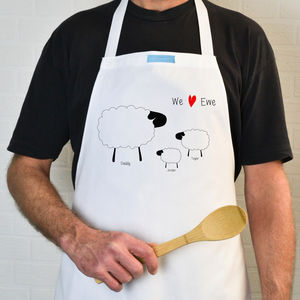 Personalised Sheep Apron - kitchen accessories