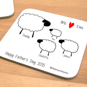 Personalised Sheep Coaster