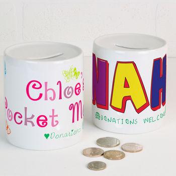Personalised Ceramic Money Box