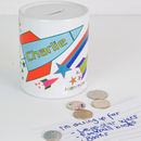 Personalised Money Box - Elephants Or Rockets