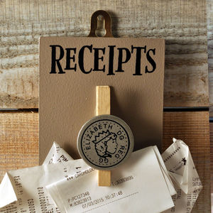 Rather Retro Receipts Peg - hooks, pegs & clips