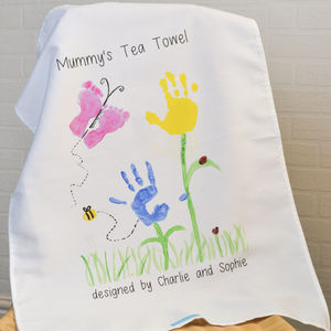 Your Child's Artwork Personalised Tea Towel - toys & games