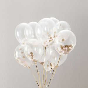 Pack Of 14 Baby Girl Confetti Balloons - room decorations