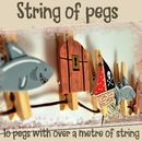 String Of Wooden Pirate Pegs