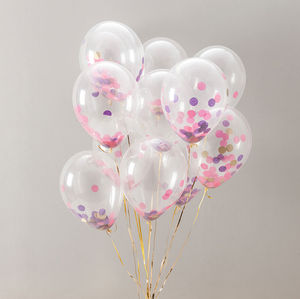 Pack Of 14 Party Girl Confetti Balloons - children's parties