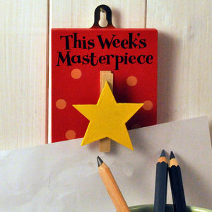 This Week's Masterpiece Star Wooden Peg - bedroom