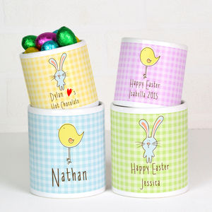Personalised Easter Mug With Chocolate Eggs - for children