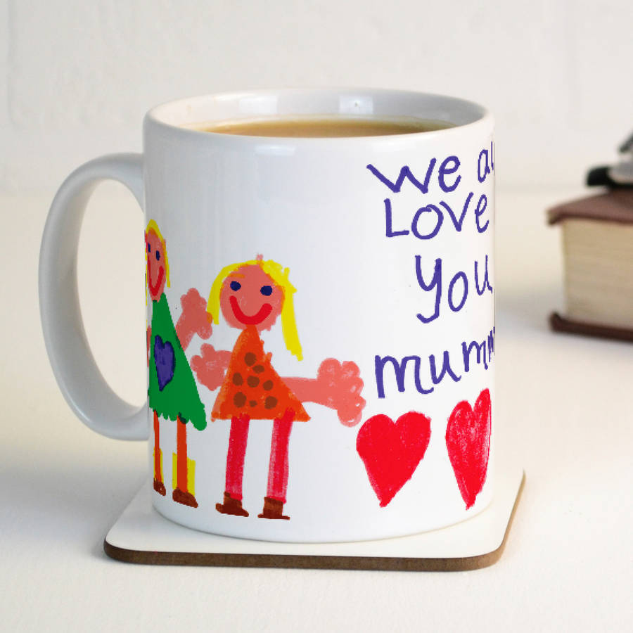 your child 39 s artwork personalised mug by meenymineymo. Black Bedroom Furniture Sets. Home Design Ideas