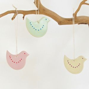 Ceramic Easter Chick Decoration - easter decorations