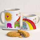 Personalised Mug With Elephants