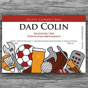 Fathers Day Personalised Rosé Wine Labels - wine