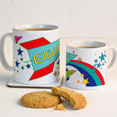 Personalised Mug With Rockets