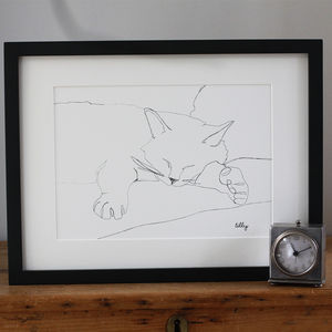 Continuous Line Drawing Portrait Of Your Pet - gifts for pet-lovers