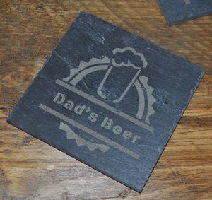 Personalised Beer Slate Coaster