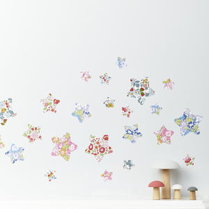 Liberty Fabric Star Wall Stickers - baby's room