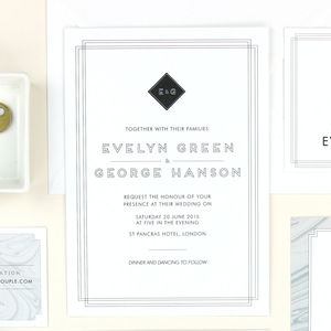 Evelyn Art Deco Wedding Stationery - wedding stationery