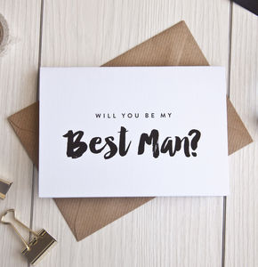 Personalised 'Will You Be My Best Man?' Card - weddings sale