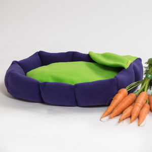 Fleece Cushion Rabbit Bed - cat beds