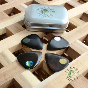Planet Tones Guitar Picks / Plectrums In A Gift Tin
