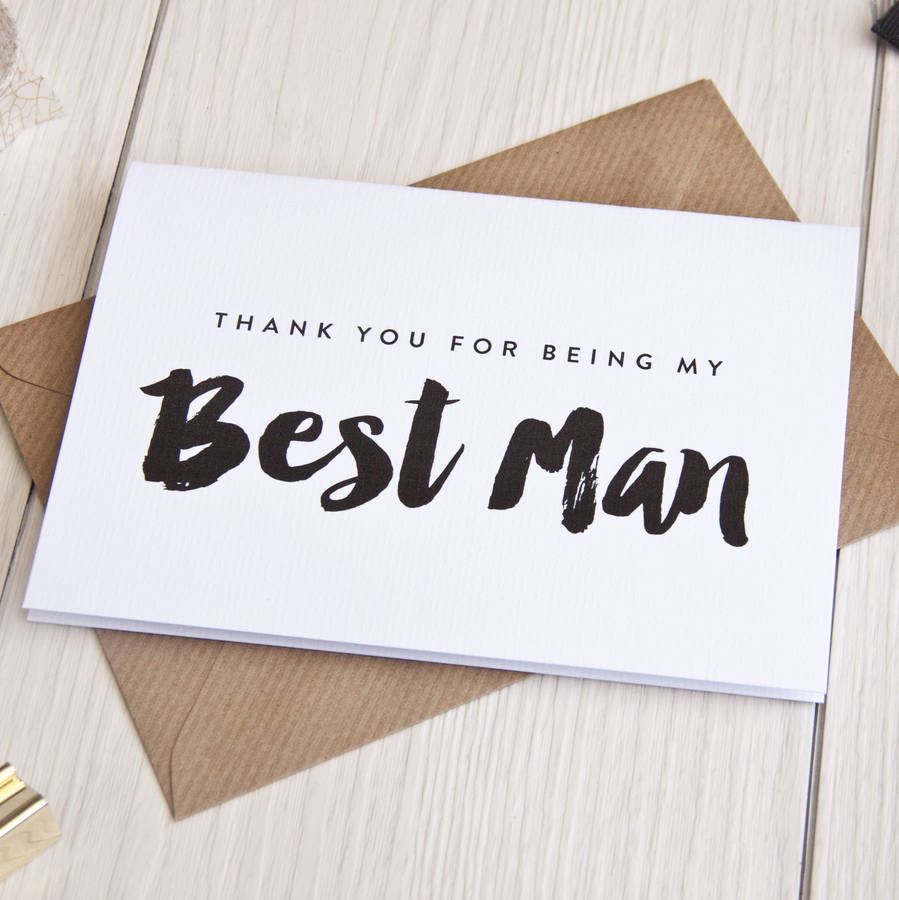 Thank You For Being My Best Man Card