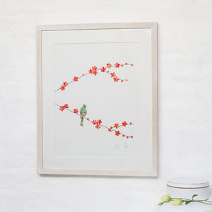 Blossom And One Bird Art Print