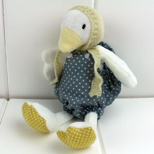 Cuddly Newborn Soft Toy Duck - keepsakes