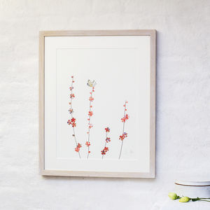 Butterfly And Blossom Art Print