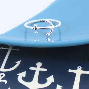 Anchor Ring In Sterling Silver