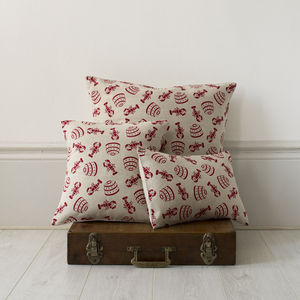 Lobster Pot Linen Cushion - cushions