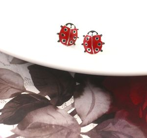 Ladybird Earrings In Sterling Silver