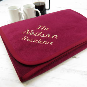 Personalised Family Blanket - gifts for families