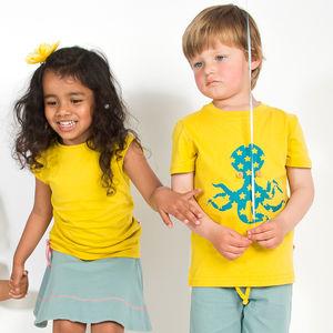 Organic Octopus Print T Shirt - baby & child