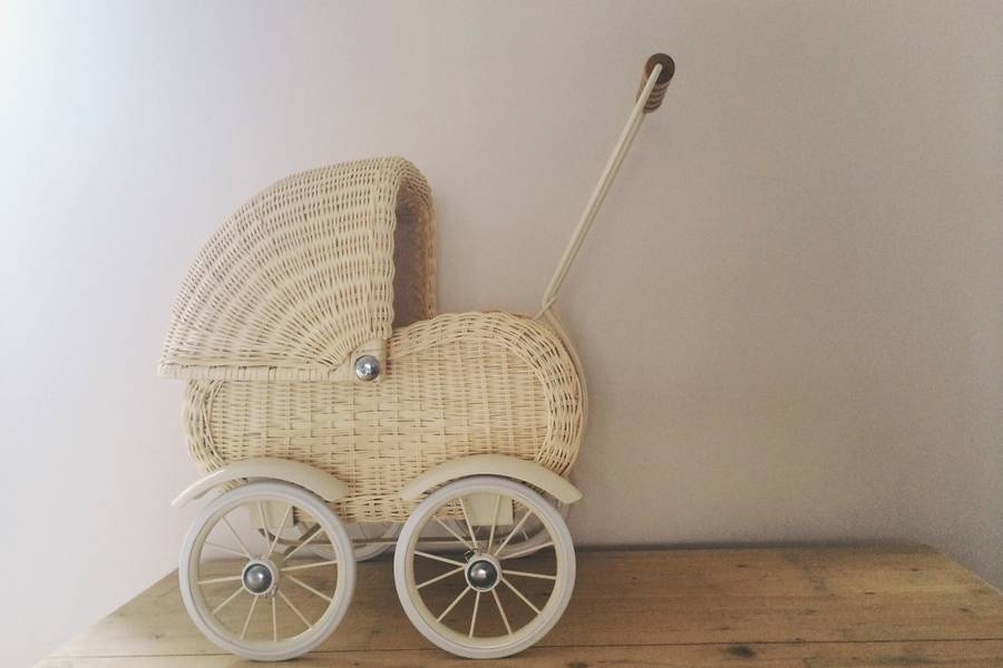 Wicker Doll S Pram By The Tipi Notonthehighstreet Com