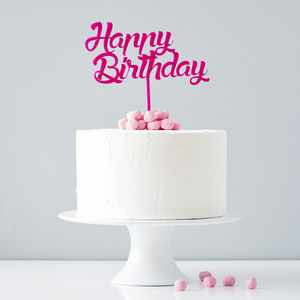 Personalised Birthday Cake Topper - cake decoration