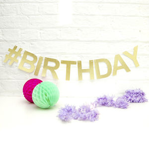 Personalised Glitter Party Garland - adults birthday