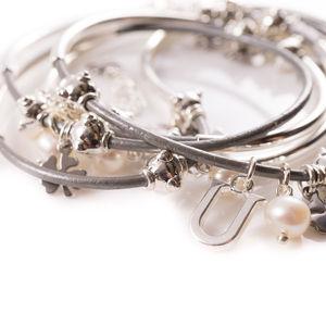Clover Charm Noodle Bracelet