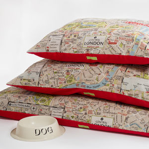 City Print Cushion Dog Bed