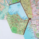 Map Location Hexagon Collectible Wall Art edinburgh detail