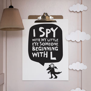 Personalised 'I Spy With My Little Eye' Print