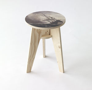 Piet Hein Eek A Ship On High Seas Stool - furniture