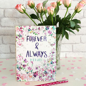 Forever And Always Wedding Guest Book - albums & guestbooks