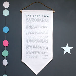 New Parents Poem Banner - baby's room