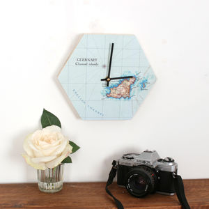Map Hexagon Clock - clocks