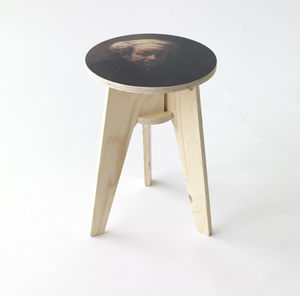 Piet Hein Eek Self Portrait By Rembrandt Stool - dining room