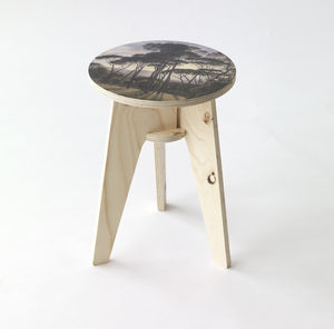 Piet Hein Eek Landscape With Umbrella Pines Stool - stools