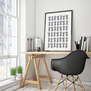 Coffee Pot Print Large In Custom Colours With Framing - modern & abstract