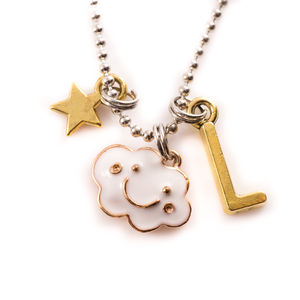 Happy Cloud Personalised Necklace - children's accessories