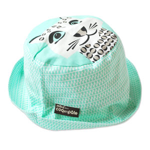 Sun Hat Snow Leopard - hats, scarves & gloves